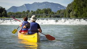 Canoë-kayak sur le Rhône Sauvage, entre Ain et Savoie, avec Kanoti